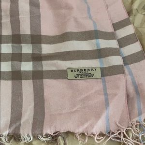Blush pink Burberry scarf